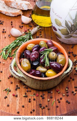 Olives In Bowl