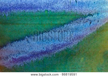 Abstract Textured Background In Green And Blue