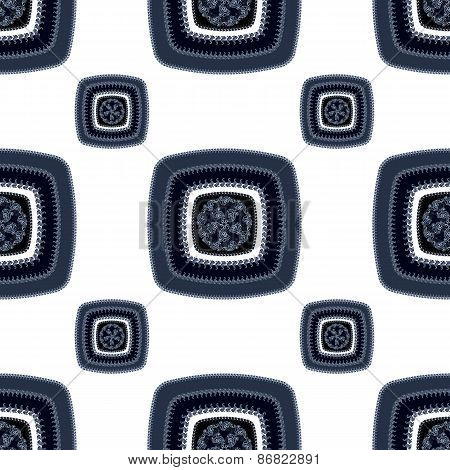 Abstract Seamless pattern with square  on white