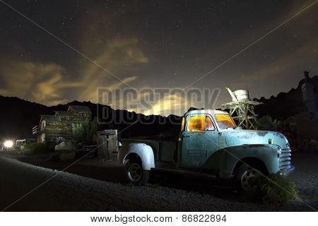 Abandoned Truck In Ghost Town