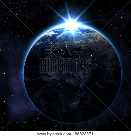 Abstract Earth From Space