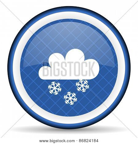 snowing blue icon waether forecast sign