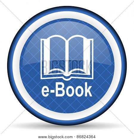 book blue icon e-book sign