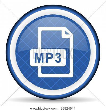 mp3 file blue icon