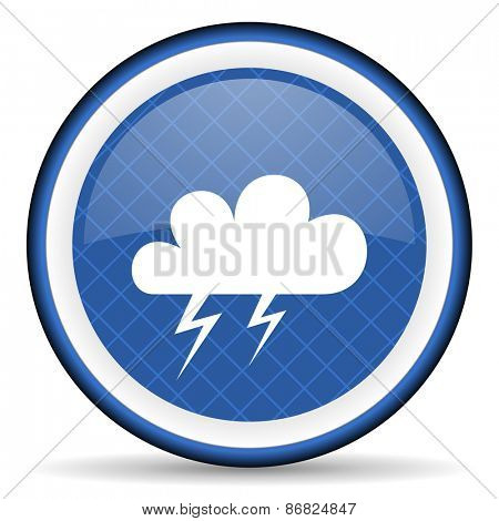 storm blue icon waether forecast sign