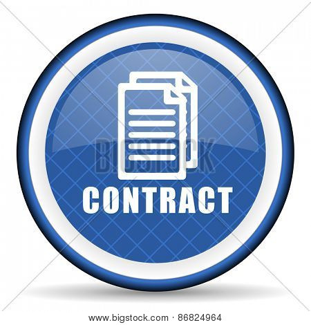 contract blue icon