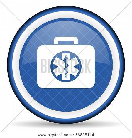 rescue kit blue icon emergency sign