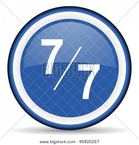 7 per 7 blue icon
