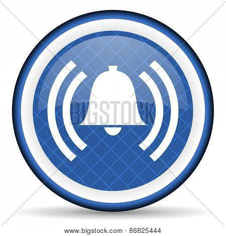 alarm blue icon alert sign bell symbol