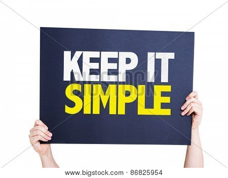 Keep It Simple card isolated on white