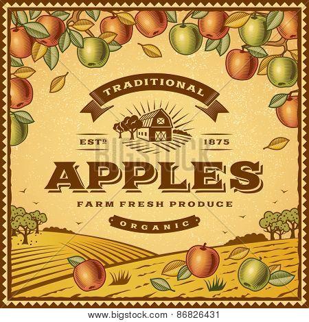 Vintage apples label
