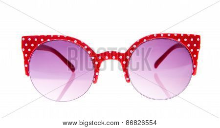 Red And White Peas glasses