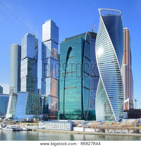 View of Moscow City, Russia