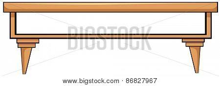 Close up plain wooden table