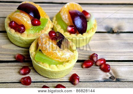 Fruit Tart On Table