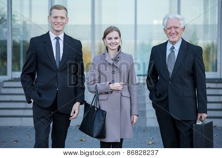 Business Team After Work In Corporation