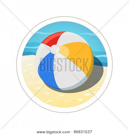 Beach ball. Eps10 vector illustration. Isolated on white background