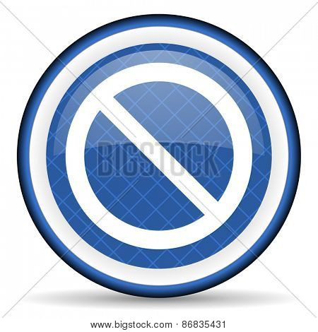 access denied blue icon
