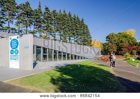Tokyo, Japan - November 23, 2013: People Visit 21_21 Design Sight Museum