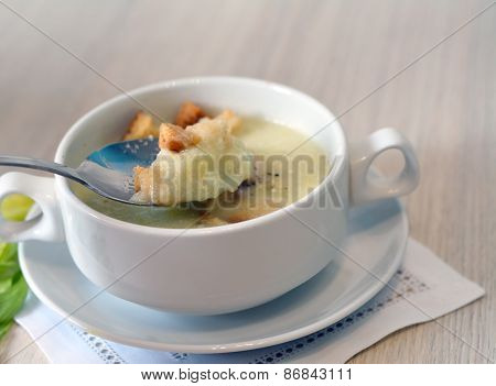 Spoon Of Celery Soup