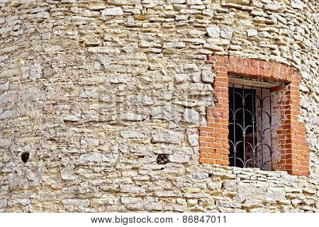 Wall and window of tower