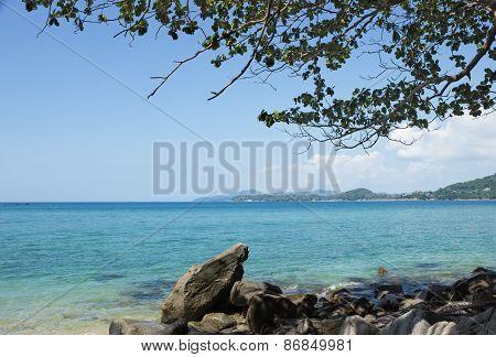 Rocky Shore Of The Andaman Sea, Thailand
