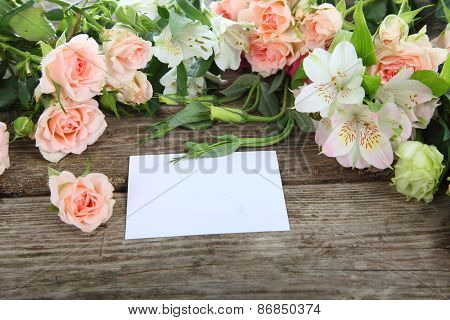 Beautiful Flowers And Greeting Card