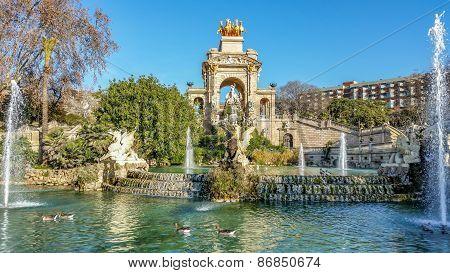 Fountain of Parc de la Ciutadella, in Barcelona