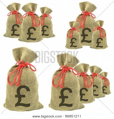 Bags of money pounds