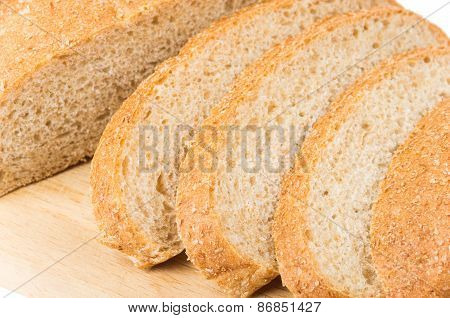Slices Of Bran Bread On Board