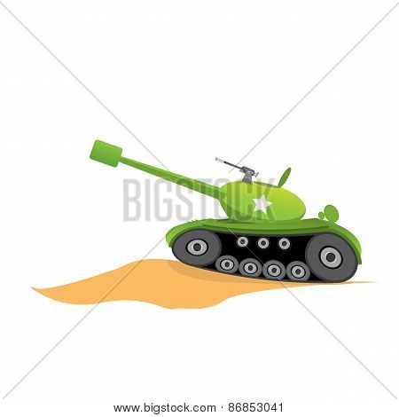 vector army tank. military tank. army machine.