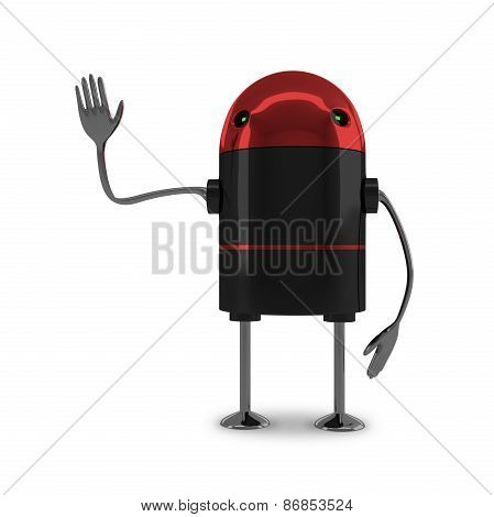 Robot With Red Head