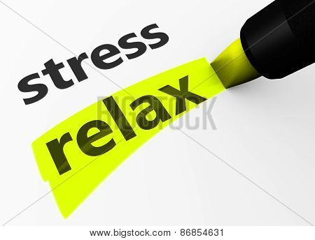 Stress Vs Relax Choice Concept