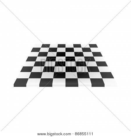 Empty chess board in black and white design