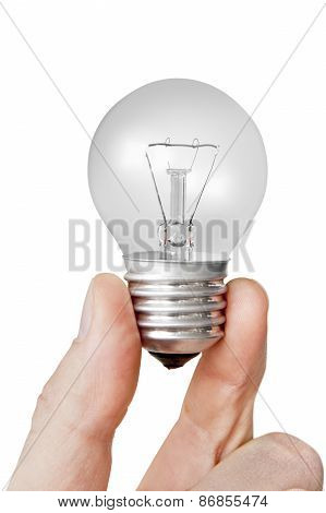 Electrical Bulb In The Hand