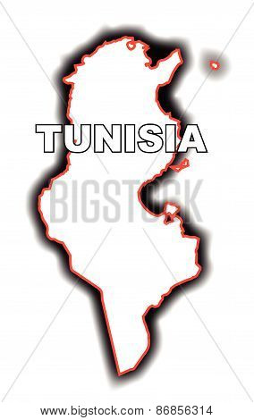 Outline Map Of Tunisia