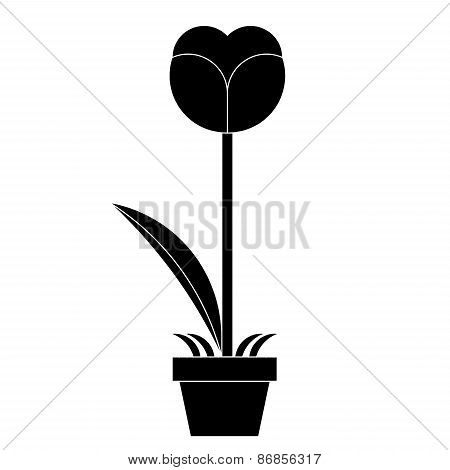 silhouette of Flower  vector