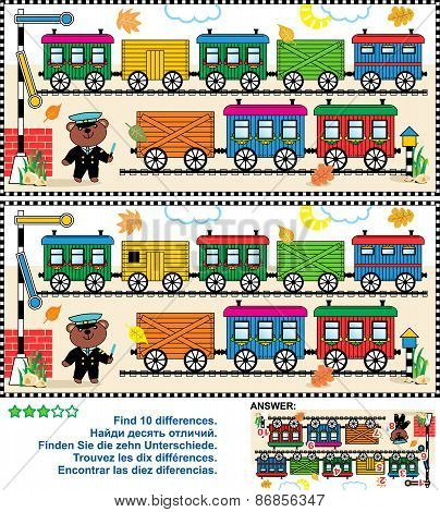 Toy train find the differences picture puzzle