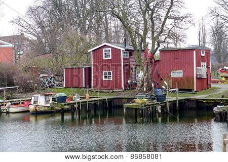 Fishing shacks in Malmo