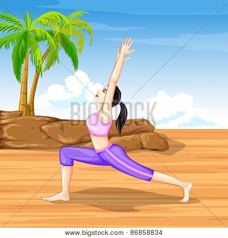 Lady practising yoga for wellness