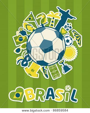 Vector Illustration of Brazil
