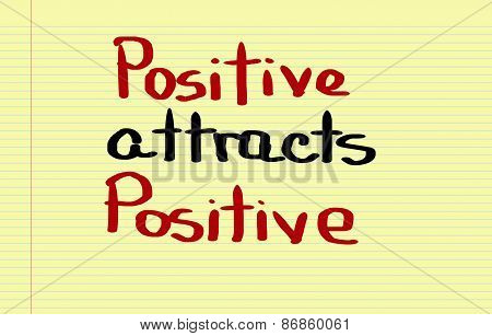 Positive Attracts Positive Concept