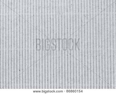 Corrugated grey cardboard as background