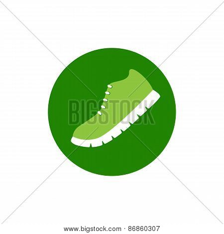 Running Shoe Logo Template
