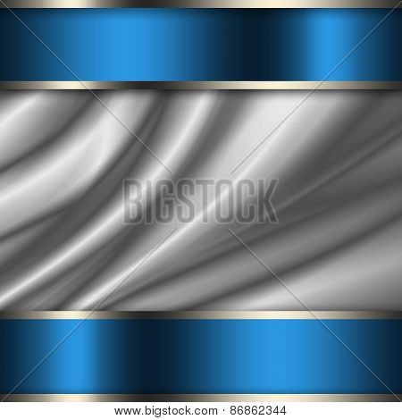 Abstract background metallic silver grey illustration