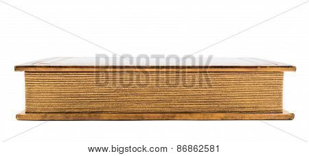 Old brown book isolated