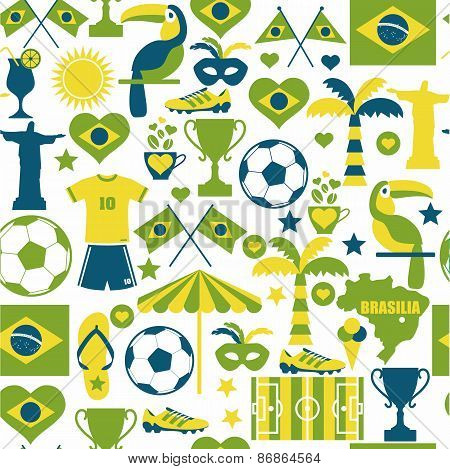 Brazil seamless background.