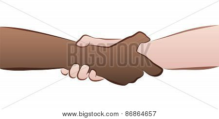 Interracial Handshake Grip