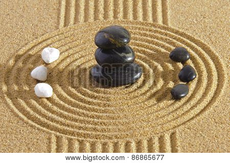 Japanese ZEN garden with Feng Shui