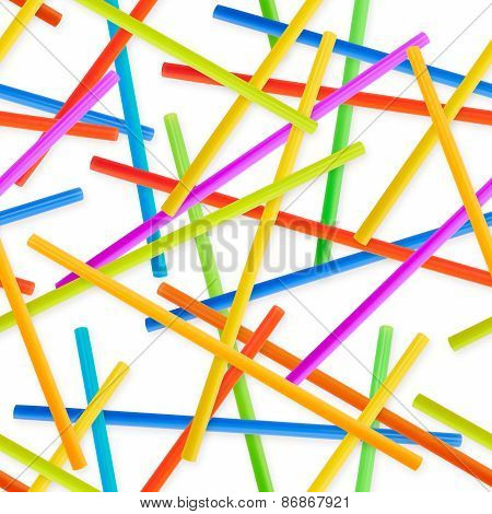 Seamless drinking straw background